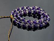 亮紫水晶+白水晶手鍊項鍊