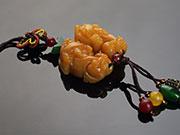 吉祥獸黃玉貔貅吊飾